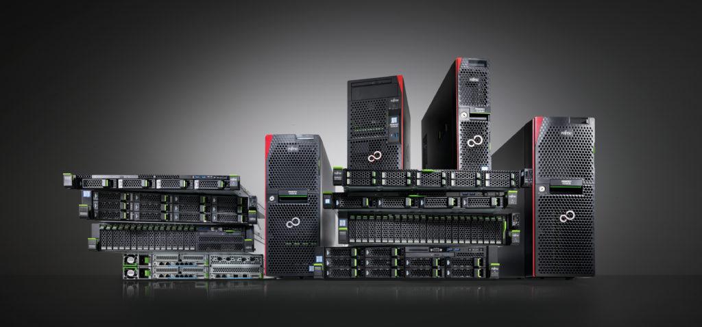 schwarze Computer auch Server geannt mit rotem Design